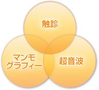 触診/マンモグラフィ/超音波